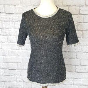 Cabi Back-zip Knit Top Medium